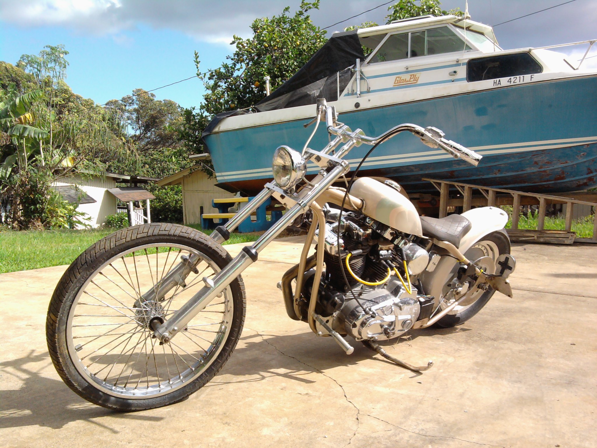 Got my Harley Chopper, Get on two wheels and Ride!